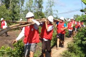 USAID supports a disaster response drill in Long An province