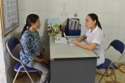 HIV testing and counselling at the Dien Chau clinic