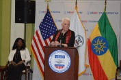 USAID Administrator Gayle Smith leads discussion during 2016 AU Summit.