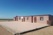 Recently rehabilitated exterior of a primary school in Hasakah governorate, northeast Syria.