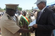 USAID Director hands out End-of-Open Defecation Certificate in Wendeguele to the Governor of Mopti Region