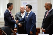Prime Minister of the Republic of Macedonia Zoran Zaev and USAID Macedonia General Development Officer Edward Gonzalez