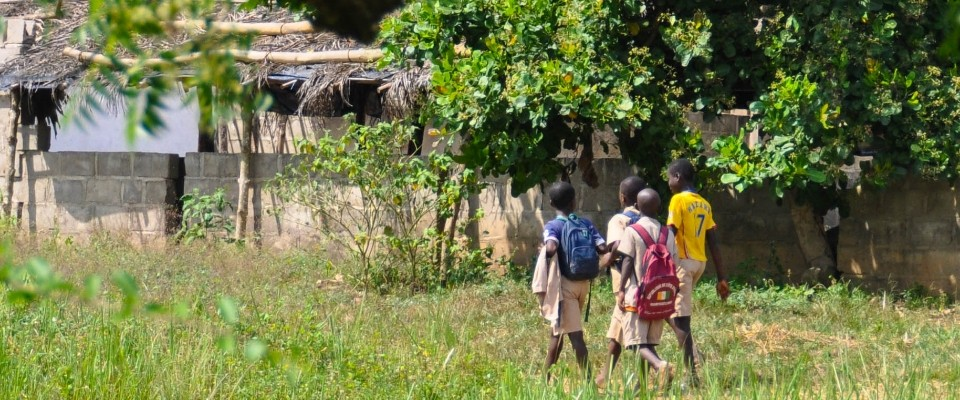 Children Walking to School in Côte d'Ivoire