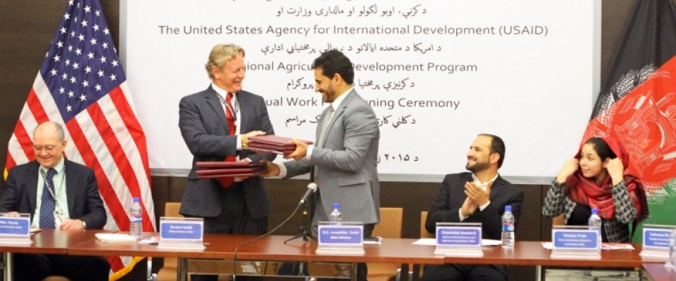 USAID and Ministry of Agriculture, Irrigation, and Livestock signed an agreement.