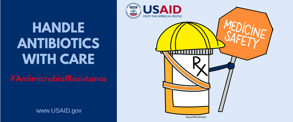 Handle Antibiotics with Care - #AntimicrobialResistance. World Antibiotic Awareness Week: Nov. 13-19