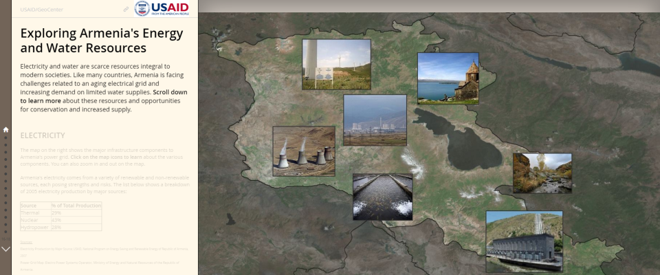 Armenia Water and Energy Web Atlas