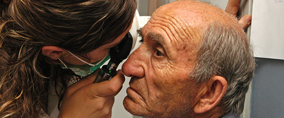 USAID partnered with an Armenian-American diaspora-led organization to provide eye exams.