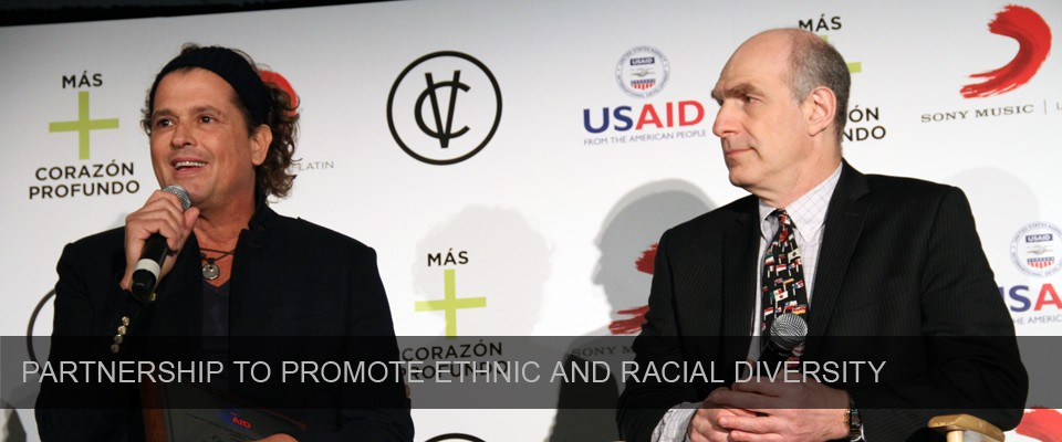 Grammy winner Carlos Vives and USAID Associate Administrator Mark Feierstein