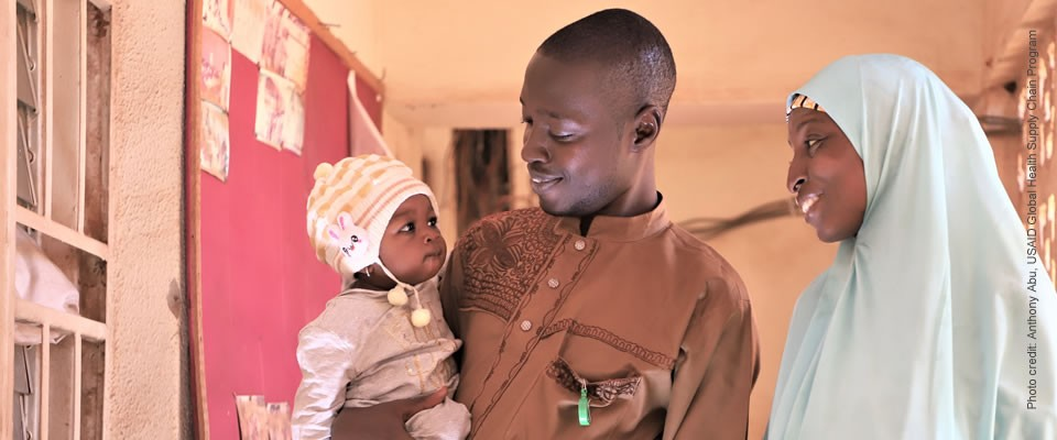 Juwairriya's parents are HIV positive, with the help of ARV drugs she was born negative. Photo credit: Anthony Abu for USAID Global Health Supply Chain Program.