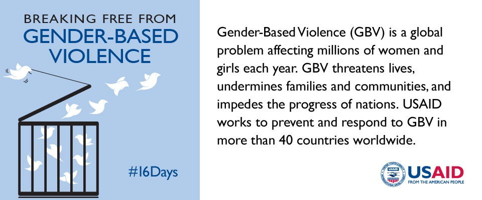 USAID Is Working To Prevent And Respond Gender Based Violence Around The World