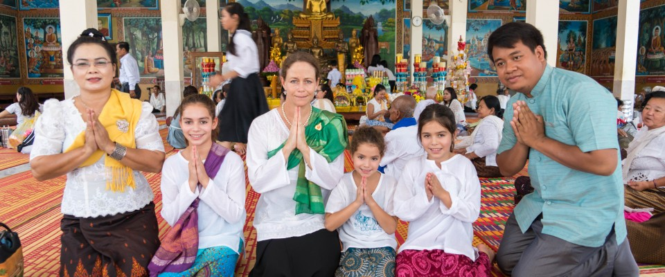 USAID Mission Director at pagoda for Pchum Ben