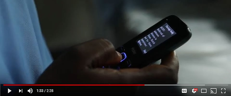 Screenshot of a person using the mHero app on their phone.