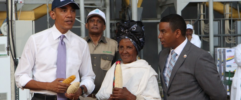 While in Ethiopia, President Obama met with Gifty Jemal Hussein, a beneficiary of the USAID-DuPont Pioneer partnership. The impr