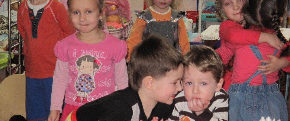 Children of a Kyiv kindergarten enjoy their new surroundings after the USAID's MHR Program provided a new heating system.