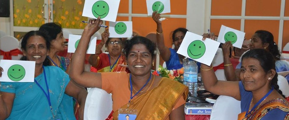 Local women leaders at a training that builds their capacities. Credit: IFES