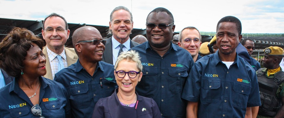President of the Republic of Zambia, His Excellency Edgar Lungu, and other dignitaries joined U.S. Ambassador Daniel L. Foote for the commissioning of Zambia's first solar power plant, which was developed with support from USAID, Power Africa, OPIC and the World Bank.
