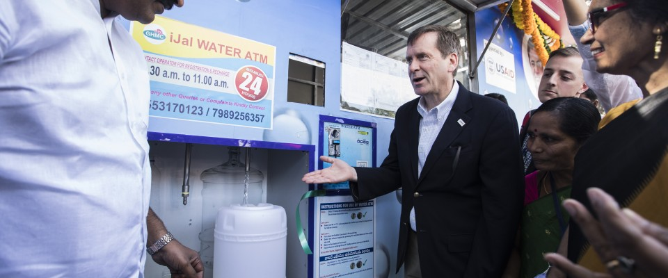 USAID ADMINISTRATOR MARK GREEN'S REMARKS AT A WATER KIOSK OPENING
