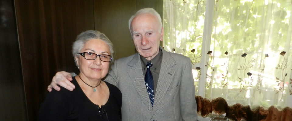 Murman Khachapuridze and his wife live at the Tbilisi Elders Boarding House.