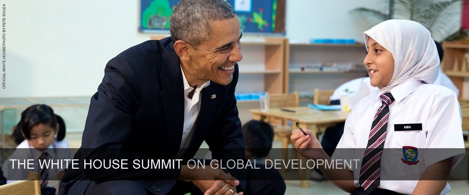 The White House Summit on Global Development. Official White House photo by Pete Souza.