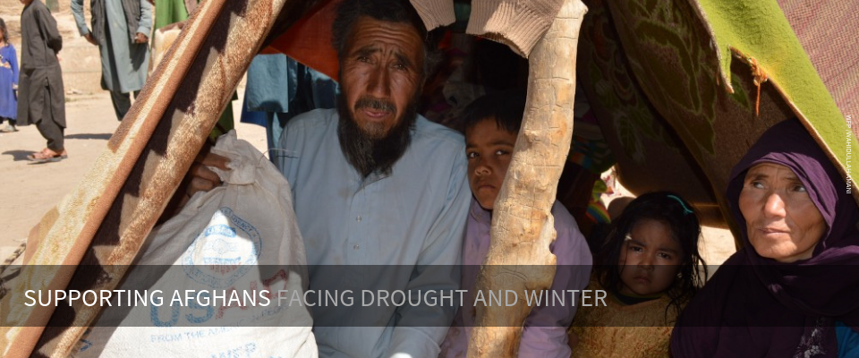 Yageen, 60, his wife Joma Gul, and their four children came to this camp two months ago from their village in Abkamary district, after he lost his agriculture land and sold all his home supplies to survive. His family received food assistance from WFP. Photo: WFP/Wahidullah Amani