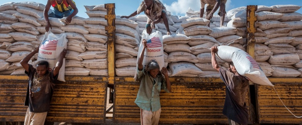 USAID delivers food through the World Food Programme. Photo: WFP/Petterik Wiggers.