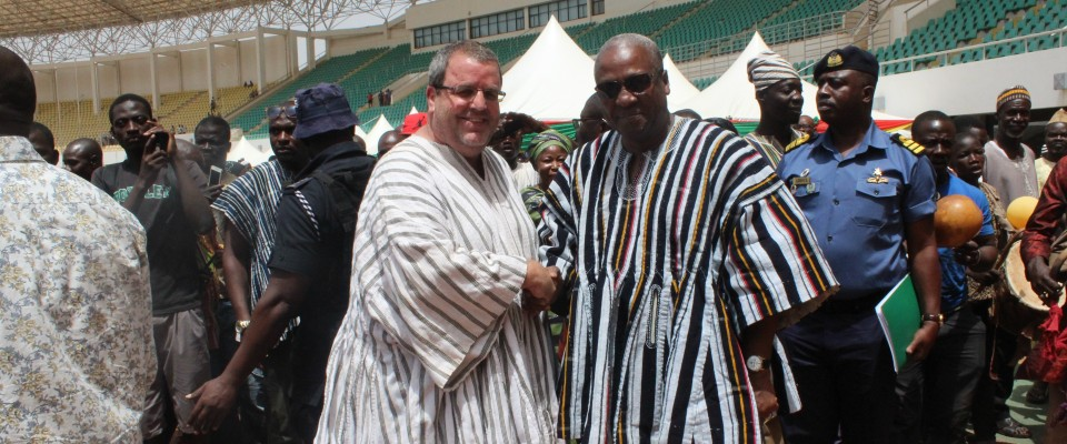 USAID Ghana Mission Director Andrew Karas Meets with President John Dramani Mahama in Northern Ghana