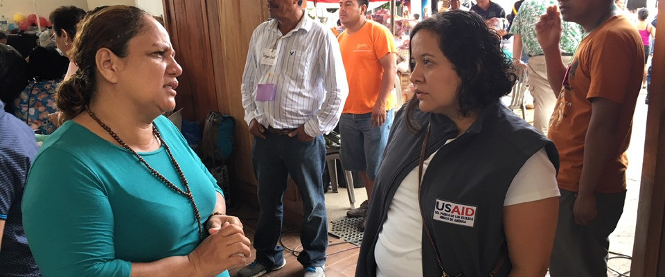 USAID/OFDA response to emergency caused by Fuego Volcano eruption included visits to shelters to discuss emergency response needs with victims.