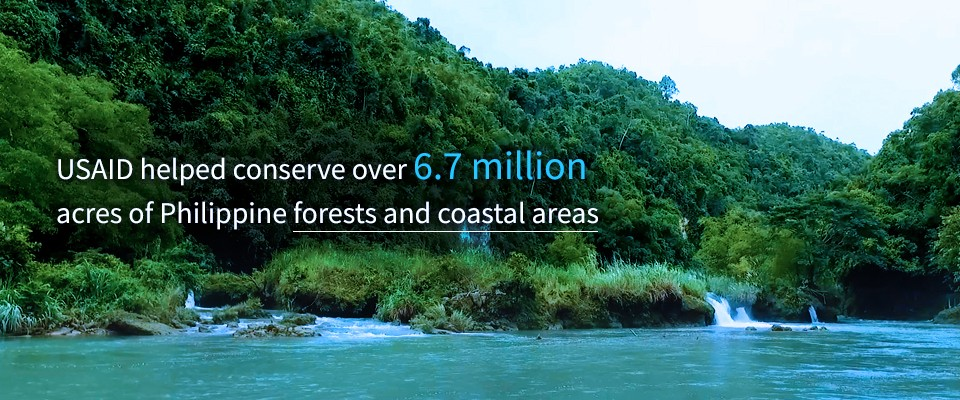 USAID helped conserve over 6.7 million acres of Philippine forests and coastal areas