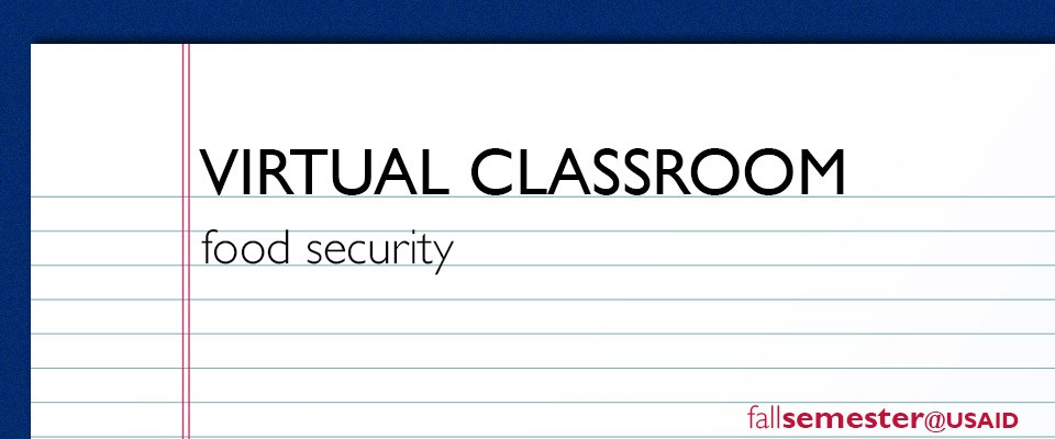 Virtual Classroom: Food Security