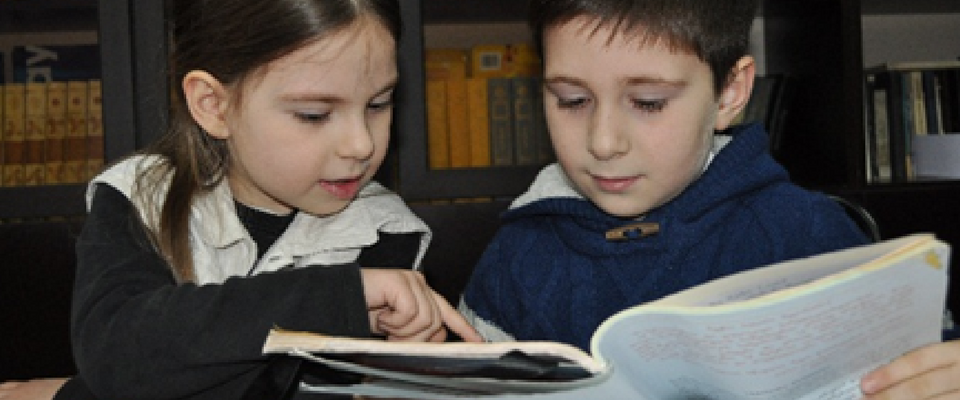 "Grade 3 students at Tbilisi School #133 participate in a ""Book Club"""
