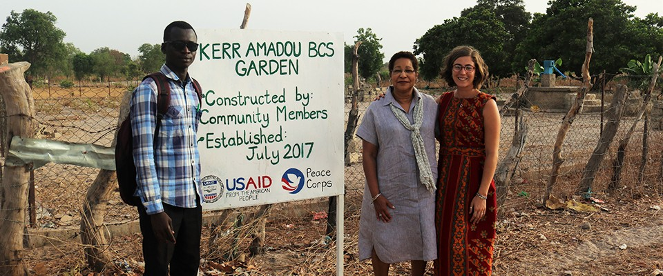 Ambassador Alsup Inspected a Peace Corps implemented USAID horticultural project in northern Gambia in June, 2018