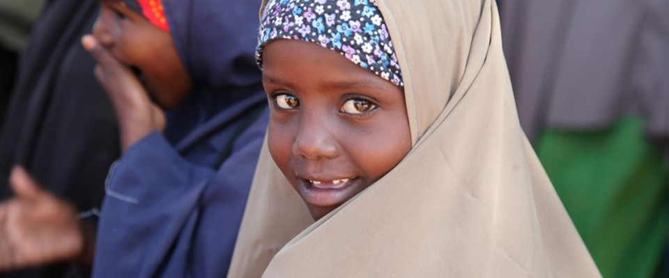 close-up image of young girl in Kenya
