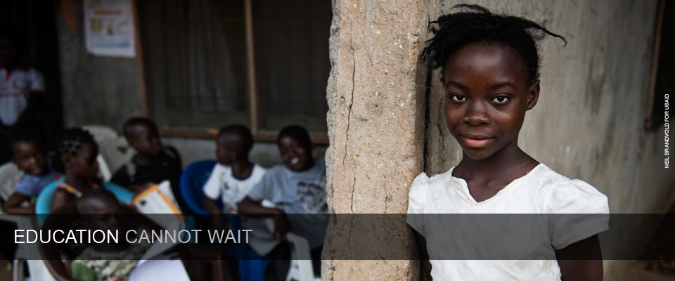 Even Amid a Humanitarian Crisis, Education Cannot Wait. Photo: Neil Brandvold for USAID