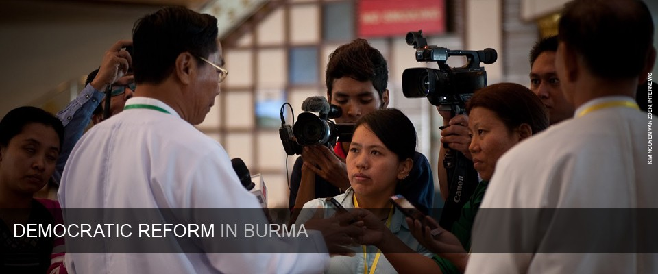 Supporting Democracy in Burma. Photo credit: Kim Nguyen van Zoen, Internews