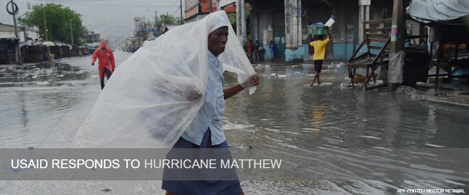 USAID Responds to Hurricane Matthew.