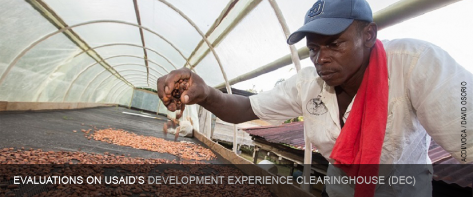 Evaluations on USAID's Development Experience Clearinghouse