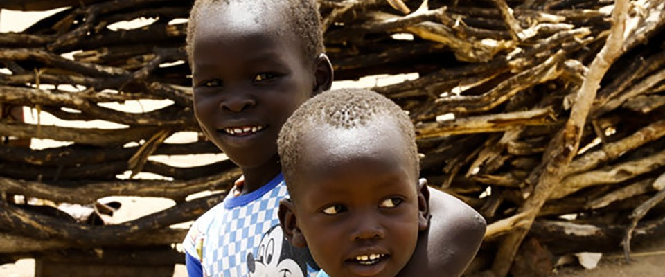 Children at a camp near Kadugli, South Kordofan state, for people displaced by conflict. AFP Photo Ashraf Shazly