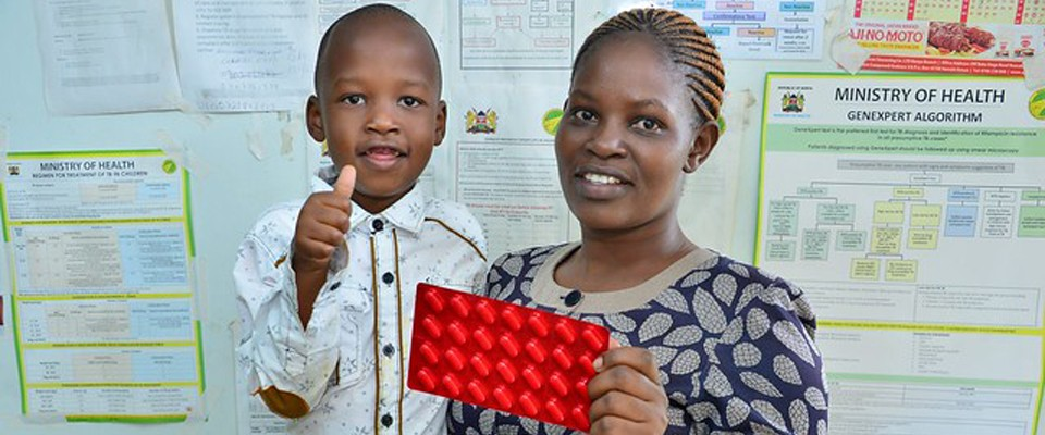 35 year old Elizabeth Wangechi and her 6-year-old son, John, were once Multi-drug-resistant tuberculosis (MDR-TB) patients.
