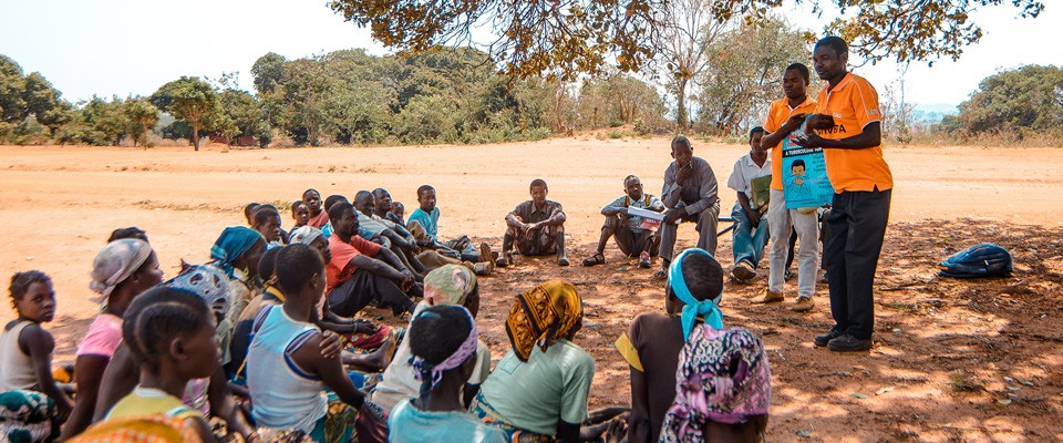 A community education session on TB