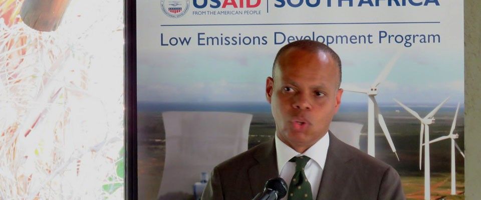 U.S. Ambassador Patrick Gaspard speaking at SALED Launch event