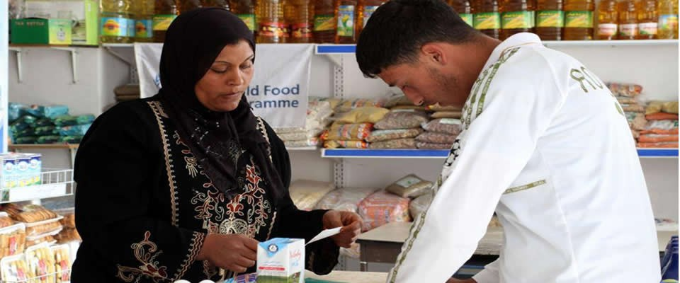 The USAID-supported World Food Programme Food Voucher Program Gives Palestinian Families Choices and Supports the Local Economy