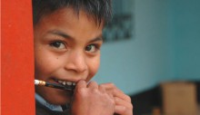 A young student at his school in Santa Cruz del Quiché in Quiché, Guatemala. USAID works with the country's Ministry of Educatio