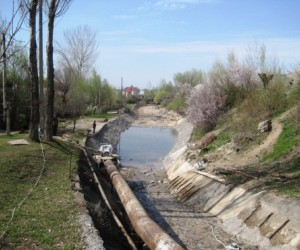 Irrigation canal in Kara-Suu