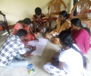 Youth participate in a career workshop in Sri Lanka.