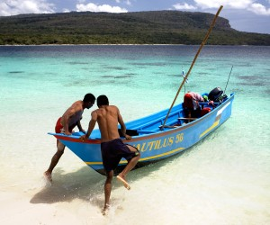 Live reef fishermen in Timor-Leste head out for their daily catch. About 15 million people in the Asia-Pacific's Coral Triangle