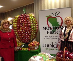 Aliona Mandatii at the launch of the unified export brand Moldova: Taste makes a difference.