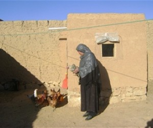 Latifa is USAID poultry beneficiary, Zargaran Village in Bamyan Province.