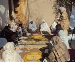 Women in Jalalabad meet to discuss legal rights of girls and women.