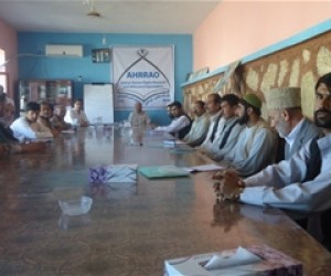 Community members and government representatives regularly meet in the recently furnished Dehdadi District Development Assembly