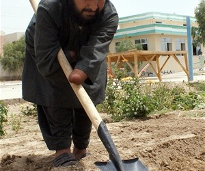 Disabled farmers in Kandahar Province learn skills to help them become self-sufficient.